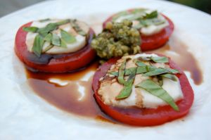 caprese salad recipe from 100 Days of Real Food